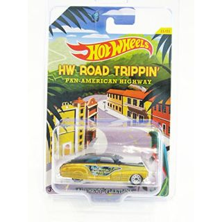 2015 Hot Wheels HW Road Trippin 47 Chevy Fleetline #11-21 (Matte Black - Anodized Gold) (WSP Wheels) in Protecto Pak