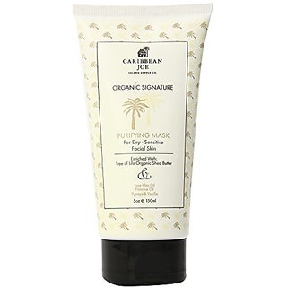 Caribbean Joe Organic Signature Purifying Mask for Dry-Sensitive Skin, 5.0 Ounce