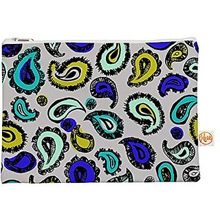 Kess InHouse Blue Fun Everything Bag Flat Pouch Gabriela Fuente, 8.5 by 6-Inch (GF1001AEP01)