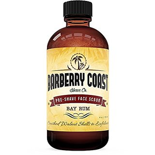 Bay Rum Pre-Shave Face Scrub by Barberry Coast - Exfoliating Cleanser that Makes Shaving Easier