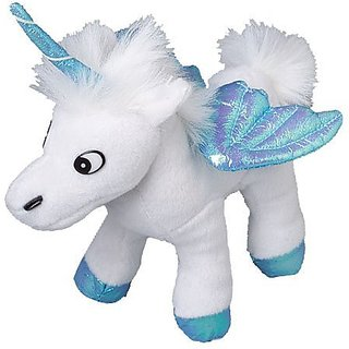 One Assorted Color Stuffed Plush Iridescent Wing Unicorn Animal Toy