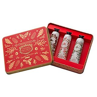 Panier Des Sens, Red Tin, 3 Hand Creams, Verbena, Rose, Red Thyme, 1 Fl Oz