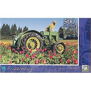 Puzzlebug 500 Piece Puzzle ~ Happy Farm Dog