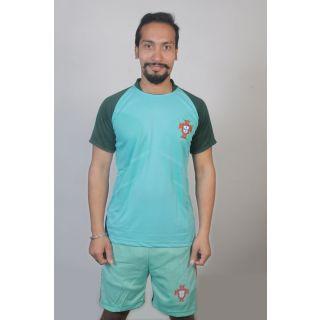 Light sky Portugal football jersey for men