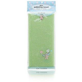 Bath Accessories Skin Polishing Towel, Celery