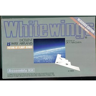 White Wings. Reserved Edition. Select Models. Excellent Paper Airplanes. Assembly Kit. Ninomiya
