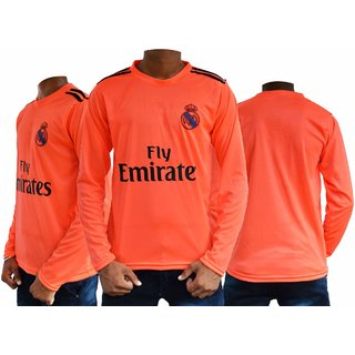Ornge long sleeves realmadri football jersey