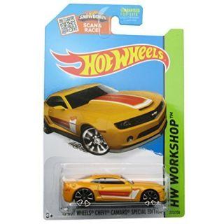 Hot Wheels, 2015 HW Workshop, 13 Hot Wheels Chevy Camaro Special Edition [Yellow] Die-Cast Vehicle #232-250