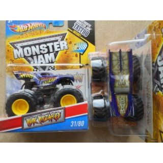 2011 Hot Wheels Monster Jam #31-80 WAR WIZARD 1:64 Scale Collectible Truck with Monster Jam TATTOO