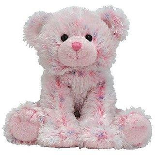 TY Beanie Babies Ticklish - pink multi bear