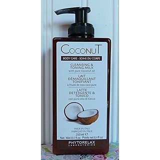 Phytorelax Coconut Cleansing & Toning Milk, 8.4 Oz.