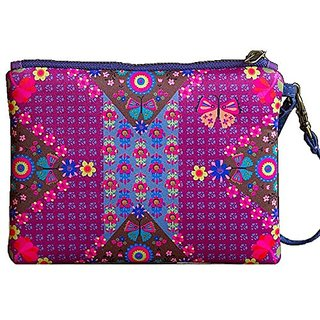 Natural Life Dutch Love Neoprene Pouch Bag, Blue/Purple