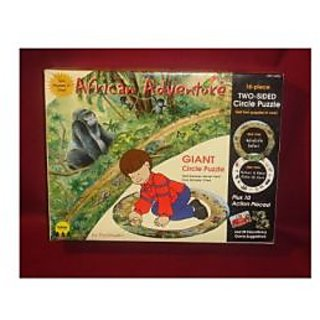 African Adventure Giant Circle Puzzle (two-sided)