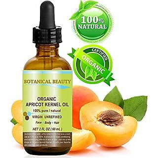 ORGANIC APRICOT KERNEL OIL Australian. 100% Pure - Virgin - Unrefined Cold Pressed Carrier Oil. 2 oz-60 ml. For Face, Ha