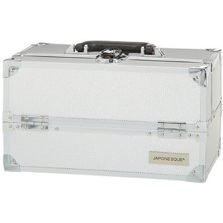 JAPONESQUE Medium Train Case, Silver