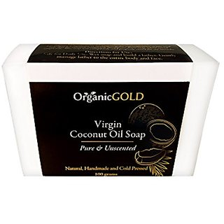 Coconut Oil Soap Virgin Pure and Unscented - Organic and Natural Antibacterial Antifungal Cleanser and Deep Moisturizer