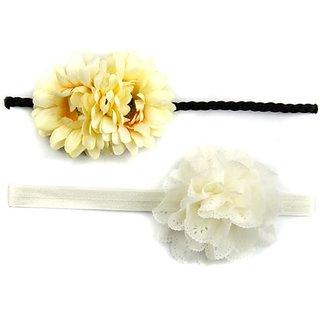 Celines Yellow Mommy & Me Matching Flower Headband Set