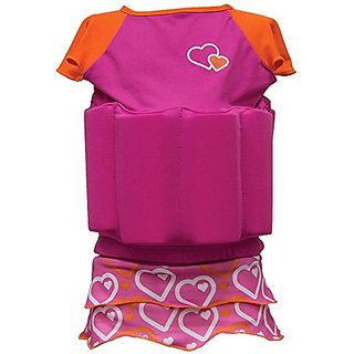 SwimWays Float Shorty - Fushia & Orange (M-L)