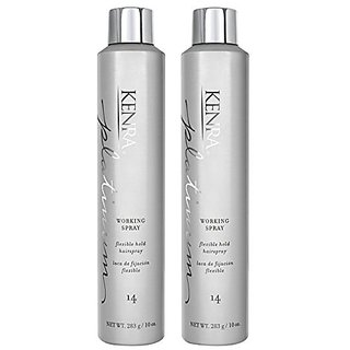 Kenra Platinum Working Spray #14, 55% VOC, 10-Ounce, 2-Count