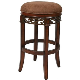 Pastel Furniture CR-215-26-MA-CS-654 Carmel Backless Barstool, 26-Inch, Murano Accent and Cosmo Sepia and Dakota Toffee