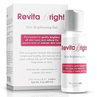 RevitaBright - Natural Skin Lightening Gel for Sensitive Skin Lighten and Brighten Freckles - Even Out Complexion - Get