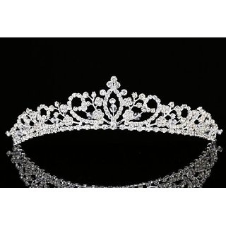 Flower Branch Rhinestone Crystal Beads Bridal Tiara Crown T930