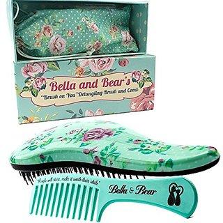 Bella and Bear Detangling Hair Brush and Comb Set