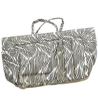 The Plaid Purse Bag Organizer - Zebra Print