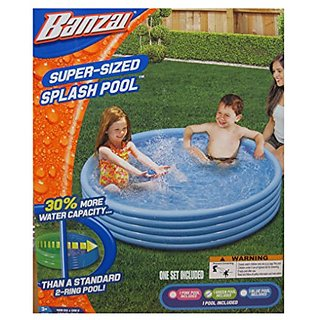 Banzan Super-Sized Kids Blue Inflatable Splash Pool