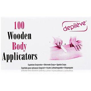 Depileve Wooden Body Applicators, 8 Ounce