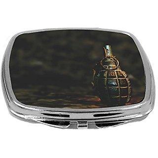 Rikki Knight Compact Mirror, Grenade On Grunge