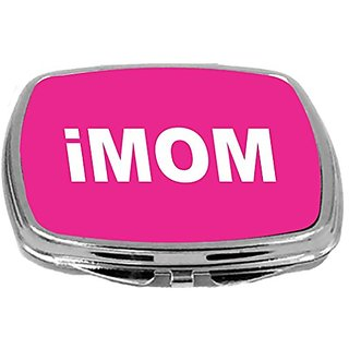Rikki Knight Compact Mirror, Imom On Pink