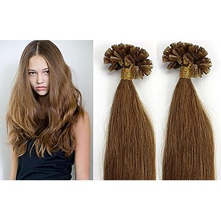stock 20inch 200s 100g Fusion U or Nail Keratin Tip Remy Human Hair Extensions Color 12 light golden brown