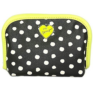 Betsey Johnson Roll Out Cosmo Cosmetic Bag (Black/Yellow)