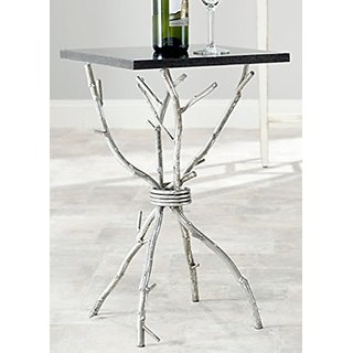 Safavieh Home Collection Alexa Black and Silver Alexa Accent Table