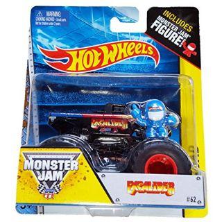 Monster Jam EXCALIBER includes monster jam figure #62 hot wheels off road