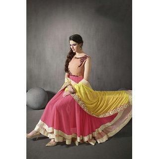 Salwar Soul Cream Pink COLOR LATEST INDIAN DESIGNER ANARKALI SALWAR KAMEEZ DRESS for women girls Free Size