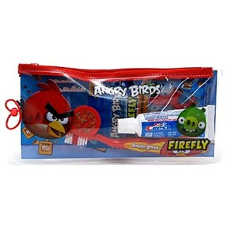 Firefly Toothbrush & Toothpaste Travel Kit - Angry Birds
