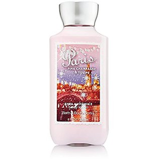 Bath & Body Works Shea & Vitamin E Lotion Paris Pink Champagne & Tulips