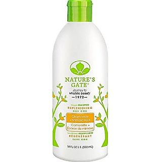 Natures Gate Chamomile + Mimosa Bark Replenishing Shampoo 18 oz ( Pack of 2)