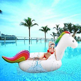 SoloFleet Giant Inflatable Unicorn Pool Floats 108