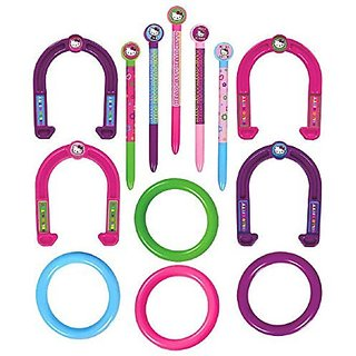 Amscan Cute Hello Kitty Ring Toss & Horseshoes Combo Game Set, Multi