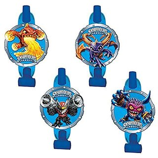 Amscan Swashbuckling Skylanders Blowouts Birthday Party Noisemaker Toy Favors (8 Pack), 5