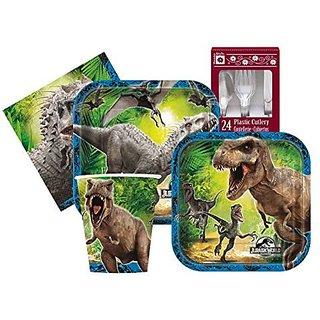 Jurassic World Themed Birthday Party Supply Kit Serves 8