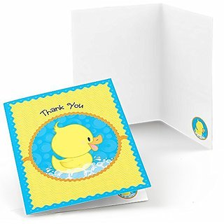 Ducky Duck - Party Thank You Cards - Set of 24