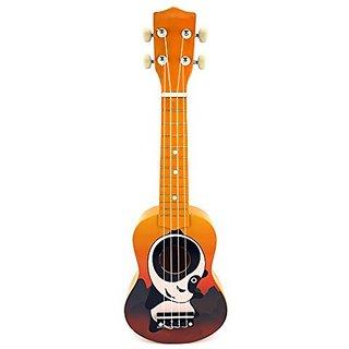 Velocity Toys Graphic Ukulele 4 Stringed Toy Guitar Lute Musical Instrument (Orange)