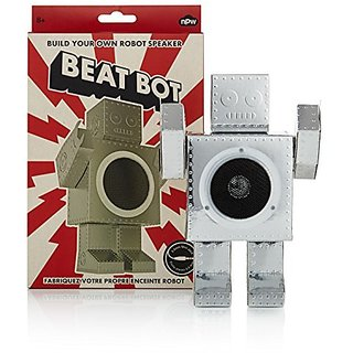 NPW Build Your Own Speaker Robot Sound System for Universal Smartphones - Retail Packaging - Silver
