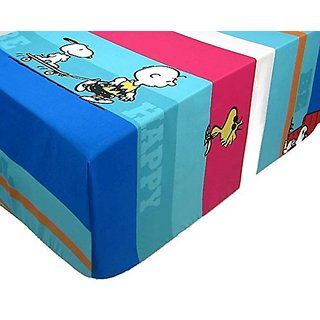 Snoopy On A Skateboard (FITTED SHEET ONLY) Size FULL Boys Girls