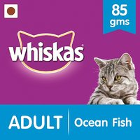 Whiskas Wet Meal (Adult - Cat Food) Ocean Fish, 85 Gm Pouch