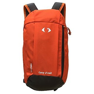 X-Sports Coup doeil Kids Adults Outdoor Backpack Daypack Mini Small Bookbags 10L(Orange Grey)